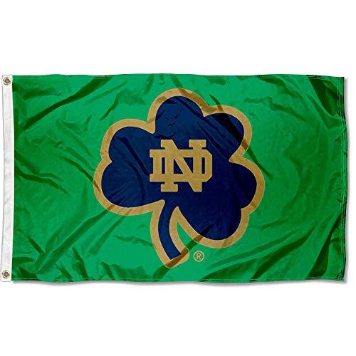 Notre Dame Flag (Notre Dame Shamrock Banner)
