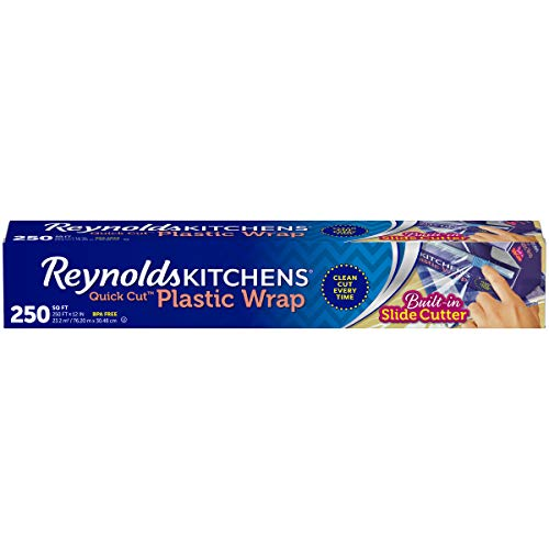 Reynolds Kitchens Quick Cut Plastic Wrap - 250 Square Foot - 200 Sq Ft Roll