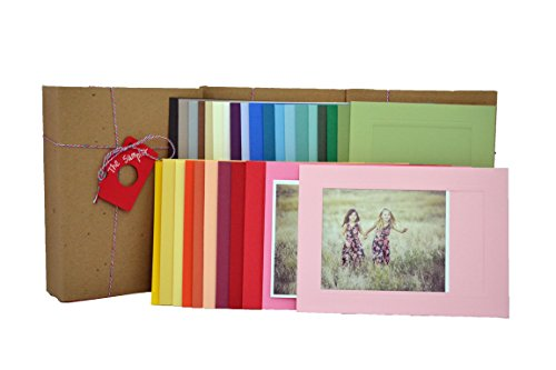 - The Sampler 4x6 Photo Insert Note Cards - 30 Cards in 30 Different Colors by Plymouth Cards
