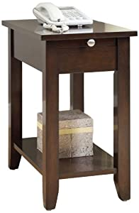 Williams Home Furnishing Fayer Side Table, Cappuccino