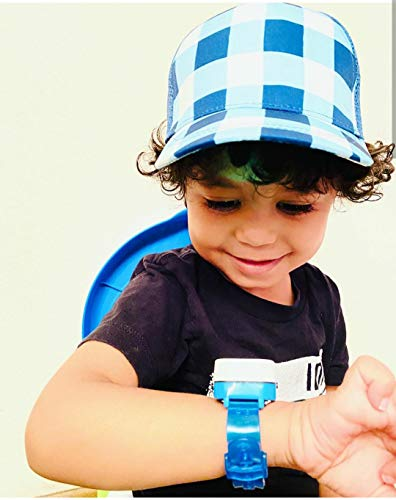 Potty Time: The Original Potty Watch | Newly Improved 2020 ~ Water Resistant. (Automatic Timers with Music for Gentle Reminders), Blue + Battery Kit