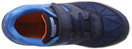 Gola Geno, Zapatillas De Deporte para Exterior para Niños Azul (Navy/blue/orange)