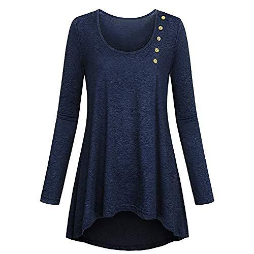 Longues Col Chic Manches Top Mousseline Tunique Bleu Mode Zipp Blouse Femme Femme Fathoit Chemisier Chemisier V 481YxY