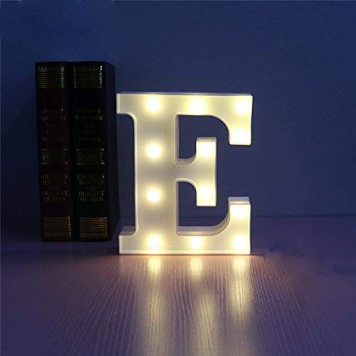 Lamker Decorative Led Lights Alphabet Letter E 26 Letters Sign Warm White Plastic Light Up Word For Birthday Wedding Party Bar Bedroom Wall Hanging Night Decorations Buy Online In Cayman Islands At