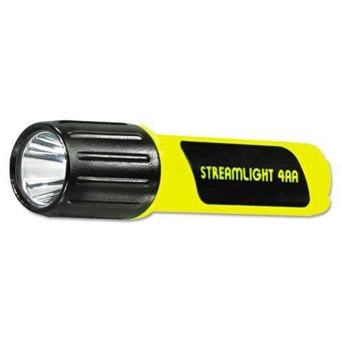 Streamlight ProPolymer C4 Lux LED Flashlight, 4 AA, Yellow - Includes 1 flashlight with four AA (4 Aa Propolymer Led Flashlight)