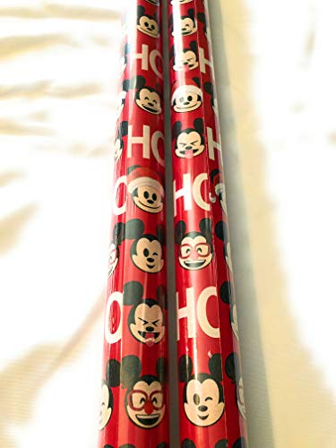 Mickey Mouse 1st Birthday Wrapping Paper (Disney Mickey Mouse Emoji Wrapping Paper - 20 sq)
