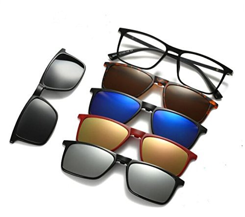 ã€Life needs a surprise】AoHeng Five-in-one magnetic glasses 5 sunglasses clip on glasses