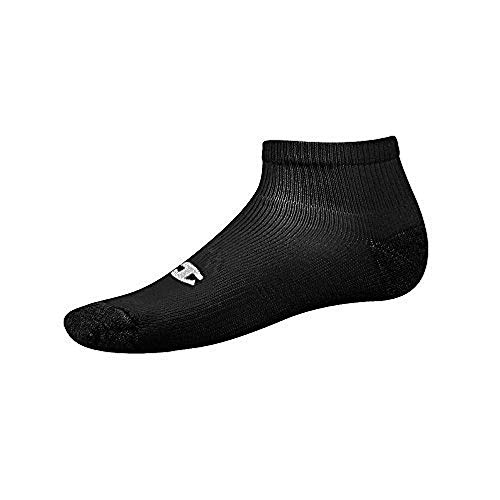 Champion Men's Double Dry Performance Quarter Socks, 6-Pack, Black, Size: 10-13, Shoe Size: 6-12