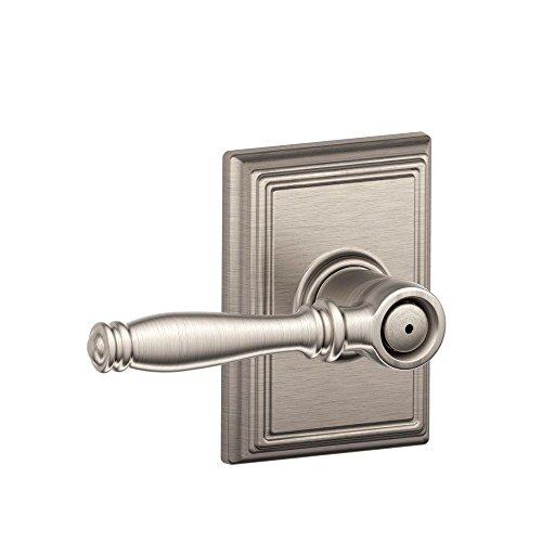 Schlage Lock Company F170SIE605WKF Polished Brass Single Dummy Siena Door Knob with The Decorative Wakefield Rose