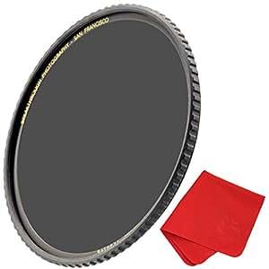 Breakthrough Photography 72mm X4 10-Stop ND Filter Camera Lenses, Neutral Density Professional Photography Filter Lens Cloth, MRC16, Schott B270 Glass, Nanotec, Ultra-Slim, Weather-Sealed