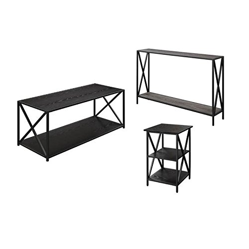 Home Square 3 Piece Coffee Table Set with Coffee Table, Cons