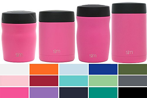 - Simple Modern Rover - 16oz Rover Food Jar - Vacuum Insulated Thermos 18/8 Stainless Steel Leak Proof Hydro Food Storage Container Flask - Cotton Candy Pink