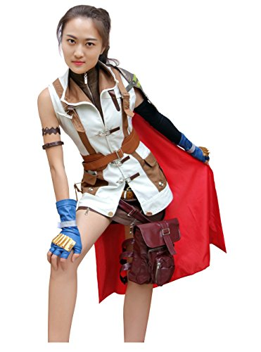 DAZCOS US Size Women's XIII Lightning Cosplay Costume (Lightning Returns Costumes)