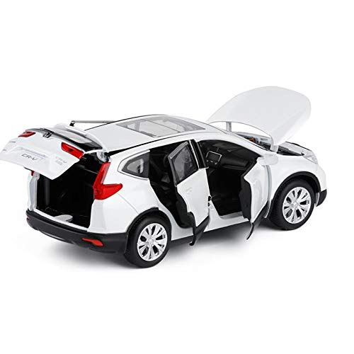JIANPING Model Car Honda CRV Off-Road Vehicle 1:32 Simulation Simulation Die-Casting Alloy Model Six Open Door Sound and Light Pull Back Children's Gifts Model car (Color : White)