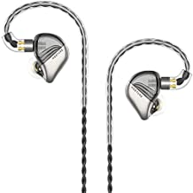 SIMGOT MT3 in-Ear HiFi Monitors Headphones with Detachable Cables, Studio Stereo Music Earphones, Dynamic Balanced Earbuds, Cell Phone Music Player Ear Buds Headset (Semi-Transparent Black)