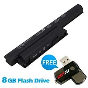 Battpit Bateria de repuesto para portátiles Sony VPCEH26EG/P (4400 mah) Con memoria USB de 8GB GRATUITA