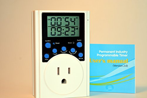 Multi Function Programmable Timer Switch US. Count Down Infinite Loop - Multifunction Wall Switch