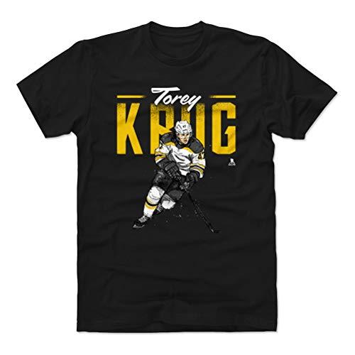 Cotton Shirt (Large, Black) - Boston Bruins Men's Apparel - Torey Krug Retro Y WHT ()