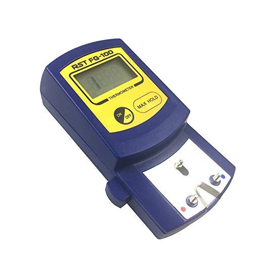 WOVELOT Fg-100 Term/ómetro De Puntas De Hierro para Soldadura Digital Probador De Temperatura para Puntas De Hierro De Soldadura 5 Piezas Sin Plomo Sensores 0-700C