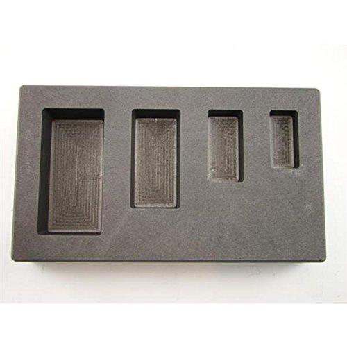 Make Your Own Gold Bars 1-2-5-10 AG Mold 1, 2, 5 & 10 oz Silver Bar Ag High Density Graphite Mold 4 Cavity Combo