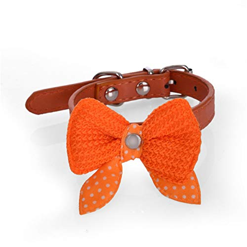 Beatybag Knit Bowknot Adjustable Dog Puppy Pet Collars for sale  Delivered anywhere in USA