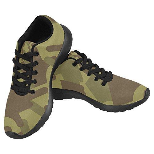Interestprint Mujeres Jogging Correr Zapatillas Ligeras Ir Fácil Caminar Casual Confort Deportes Zapatillas Deportivas Cazador Militar Militar Camuflaje Multi 1