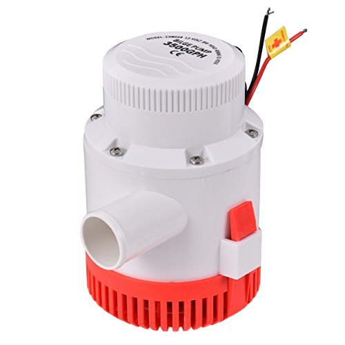 Eight24hours 3500 GPH 12V 12A Electric Bilge Pump Marine Boat Yacht Submersible 1-1/2'' Hose