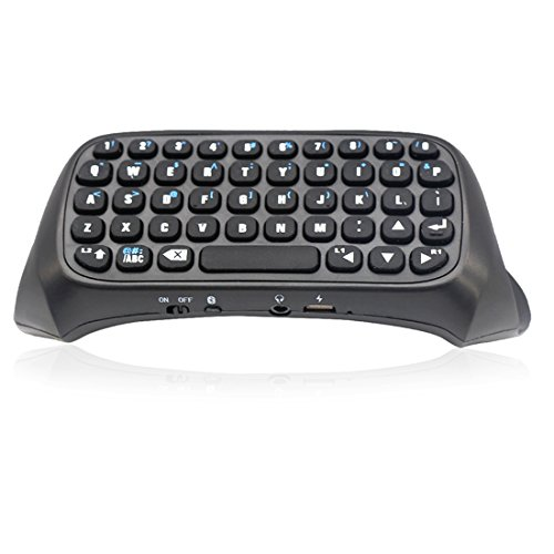 Wireless Bluetooth Chatpad Message Game Controller Keyboard for PS4 Controller