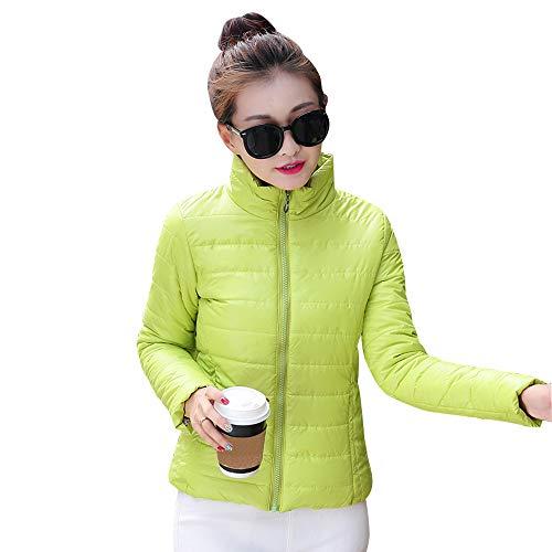 Autunno Verde Donna Caldo Moda Giacche Trapuntato Inverno Cappotto Imbottito Piumino E Xfentech Giacca Corto OSqzdOA