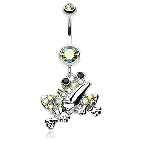 Swaggy Frog Sparkle WildKlass Belly Button Ring