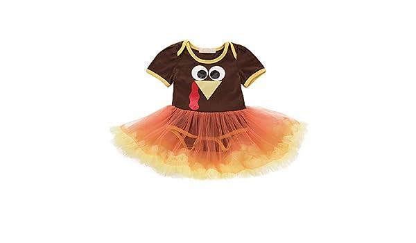 JYC Vestidos Bebe Niña, Vestido de niñas, Infantil Niño Bebé Chicas Turquía Acción de Gracias Día Gasa Tutu Vestir Trajes Paño: Amazon.es: Ropa y accesorios