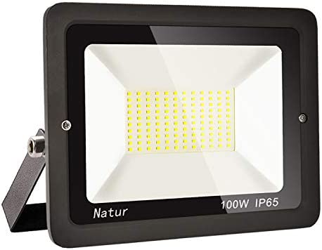 100W LED Foco exterior alto brillo Proyector led exterior de impermeable IP65,Blanco frio 3000K Iluminación led de seguridad, luz led para patio, ...