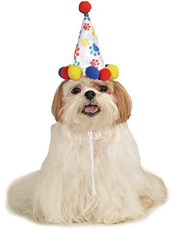 Rubies Pet Dog Cat Animal Spotted Happy Birthday Hat Fancy Dress Costume Outfit S M L Boys Style Amazoncouk Supplies