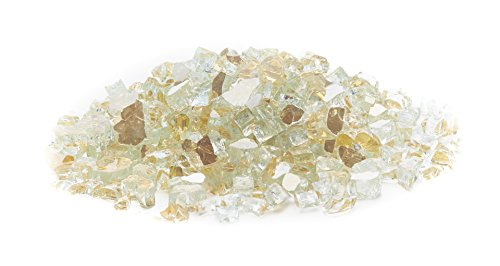 Exotic Fire Glass - Gold Reflective Fire Glass 1/2 Inch - 25lb. Bag
