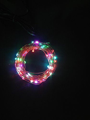LUISHA 33ft 100 LED USB Copper Wire Starry String Lights for Party, Wedding, Xmas, Indoor and Outdoor Decor (Seven Colors)