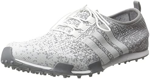 Adidas Women's Ballerina Primeknit FTWR WhiteLight OnixSilver Metallic Golf Shoes F33321
