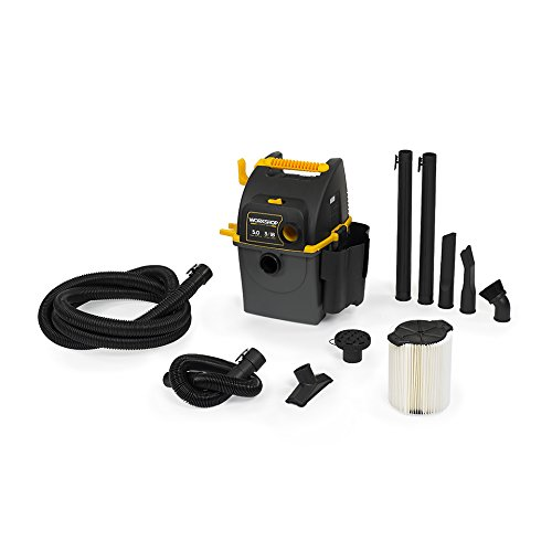 WORKSHOP Wet Dry Vac WS0500WM Portable Wall Mount Wet Dry Vacuum Cleaner, 5-Gallon Shop Vacuum Cleaner For Garage, 5.0 Peak HP Portable Garage Vac