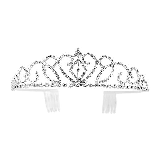 Bseash Gorgeous Pretty Rhinestone Tiara Crown Exquisite Headband Comb Pin Wedding Bridal Birthday -