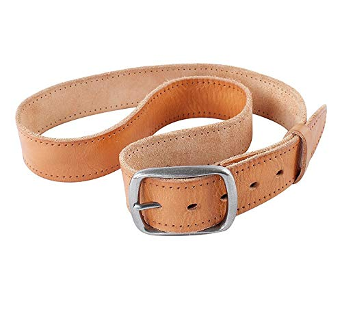 H-M-STUDIO MenS Belts Leather Buttons Jeans Belts Youth Casual Belts Brown 120Cm