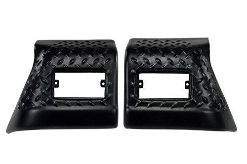 Rugged Ridge 11650.20 Black Diamond Plate Front Fender Guard - Pair Jeep Wrangler Diamond Plate