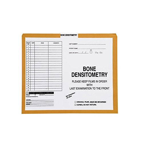 Bone Densitometry, Yellow/Green #381 - Category Insert Jackets, System I, Open Top - 10-1/2'' x 12-1/2'' (Carton of 250)