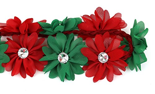 Lux Accessories Women's Girl's Floral Flower Crown Stretch Headband