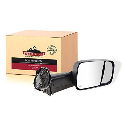 Trail Ridge Tow Mirror Power Folding Heat Memory Signal Puddle Black RH for Ram 3500 Truck Power Folding Mirror