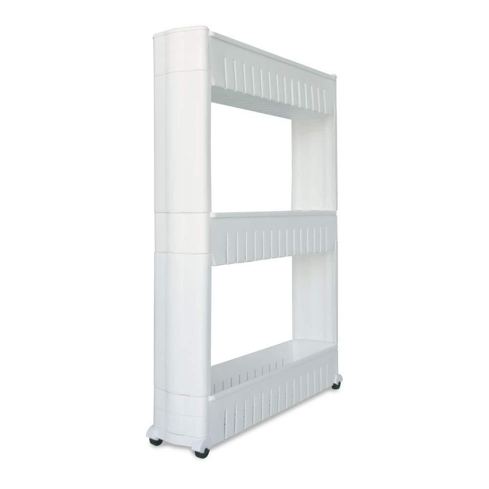 Trendy Loft 3-Tier Slim Rolling Storage Cart Noveltia