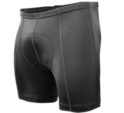 Aero Tech Designs Cyclewear Shortie Short Black Pearl Padded Bike Shorts - 5 inch Inseam - Size Large