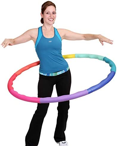 Sports Hoop Weighted Hoop, Weight Loss ACU Hoop 4M - 4lb (40 inches Wide) Medium, Weighted Fitness Exercise Hula Hoop 1