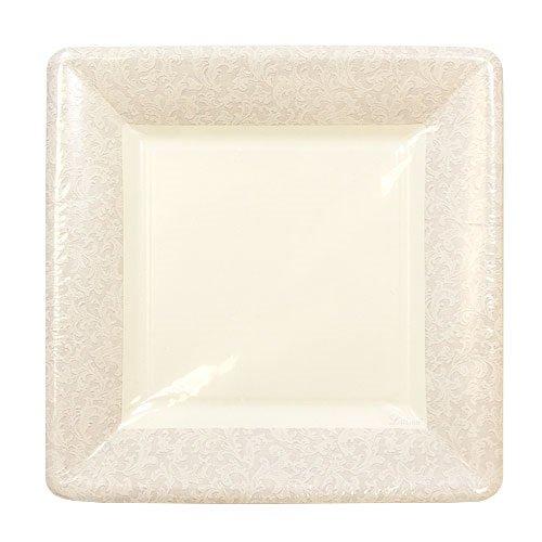 Lillian Tablesettings 24-Piece Square Paper Plates Set 7-Inch Cream Texture  sc 1 st  Amazon.com & Square White Paper Plates: Amazon.com