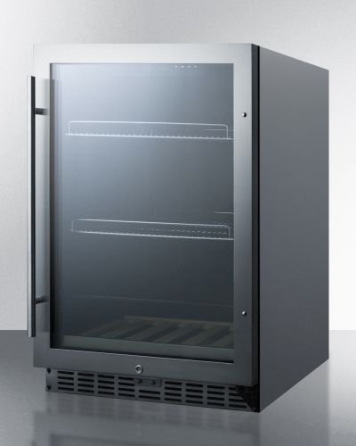 24″ Beverage Center w/Seamless Stainless Steel Door Trim