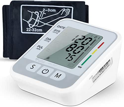 Blood Pressure Monitor, FDA Approved Accurate Automatic Upper Arm BP Machine Heart Rate Monitor Meter Dual User& 99 Sets Memory with Large Display Screen Voice Prompt for Home Use(8.7-15.7inch)