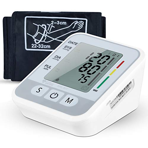 Blood Pressure Monitor, Accurate Automatic Upper Arm BP Machine Heart Rate Monitor Meter Dual User Mode & 99 Sets Memory with Large Display Screen Voice Prompt for Home Travel Use(8.7-15.7inch)